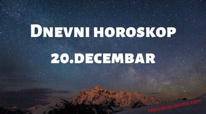 Dnevni horoskop za 20.decembar 2019