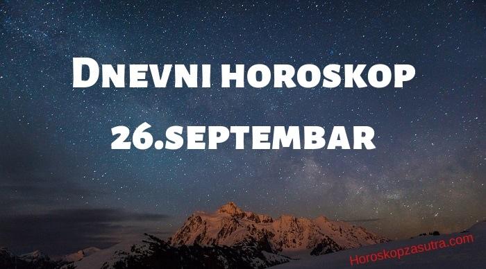 Dnevni horoskop za 26.septembar 2019