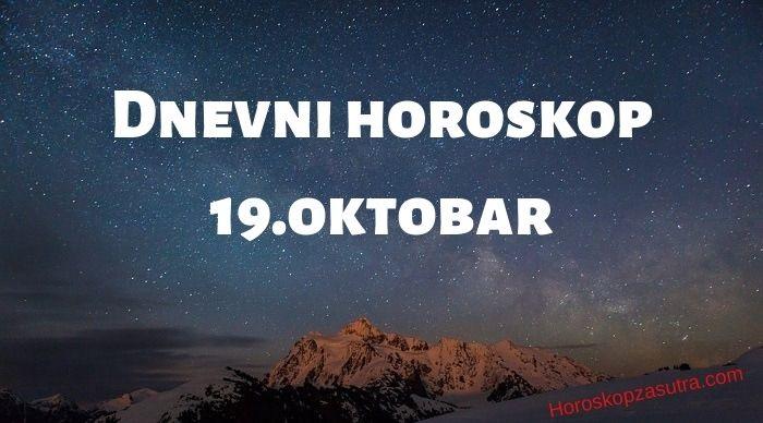 Dnevni horoskop za 19.oktobar 2019