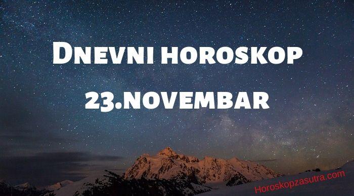 Dnevni horoskop za 23.novembar 2019