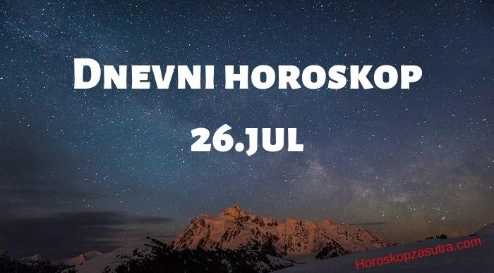Dnevni horoskop za 26.jul 2019