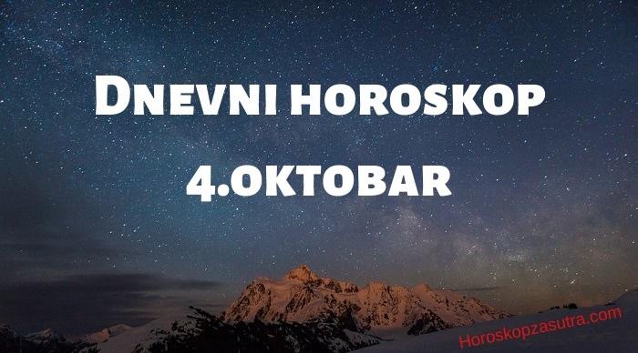 Dnevni horoskop za 4.oktobar 2019