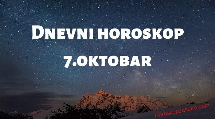 Dnevni horoskop za 7.oktobar 2019