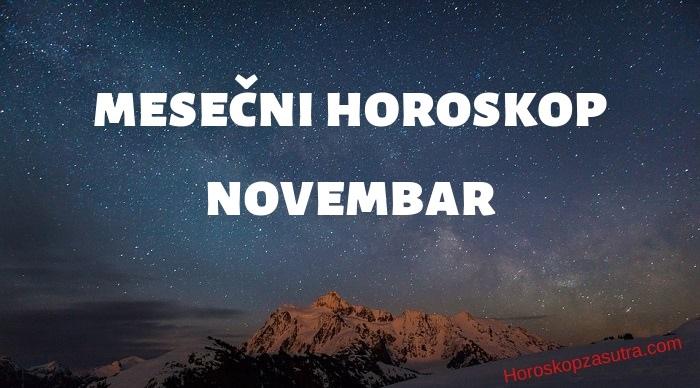 Mesečni horoskop za novembar 2019