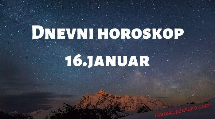 Dnevni horoskop za 16.januar 2020