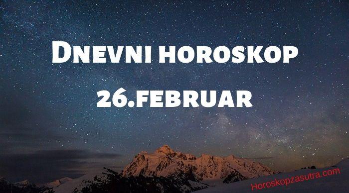 Dnevni horoskop za 26.februar 2020