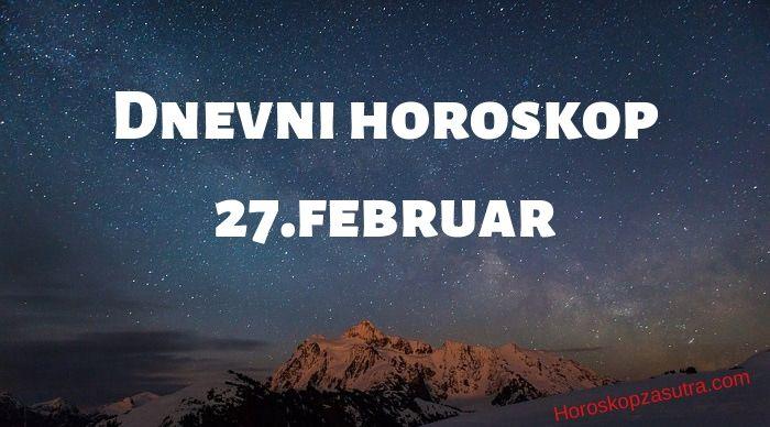 Dnevni horoskop za 27.februar 2020