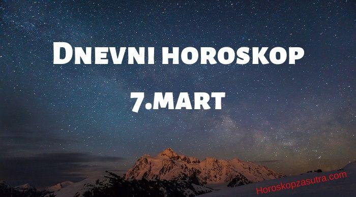 Dnevni horoskop za 7.mart 2020